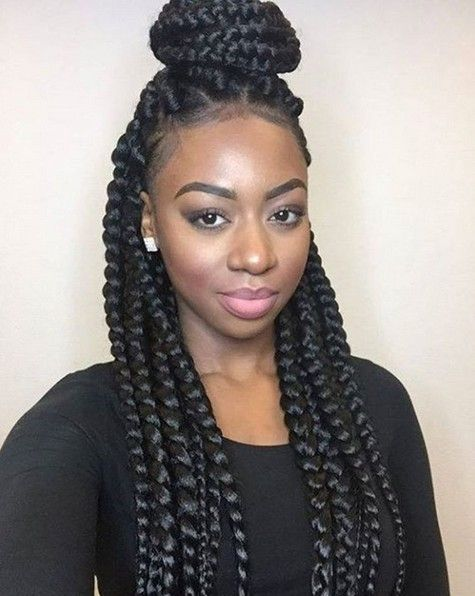 Box Braids African American Braided Updo Hairstyle Braided Hairstyles Updo Braids For Black Hair African American Braided Hairstyles