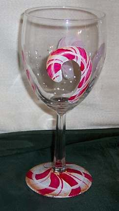 Holiday Hand Painted Wine Glasses | painting wine glasses ...