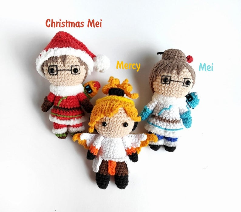 my amigurumi version of Mei from Overwatch | Crochet projects ... | 700x794