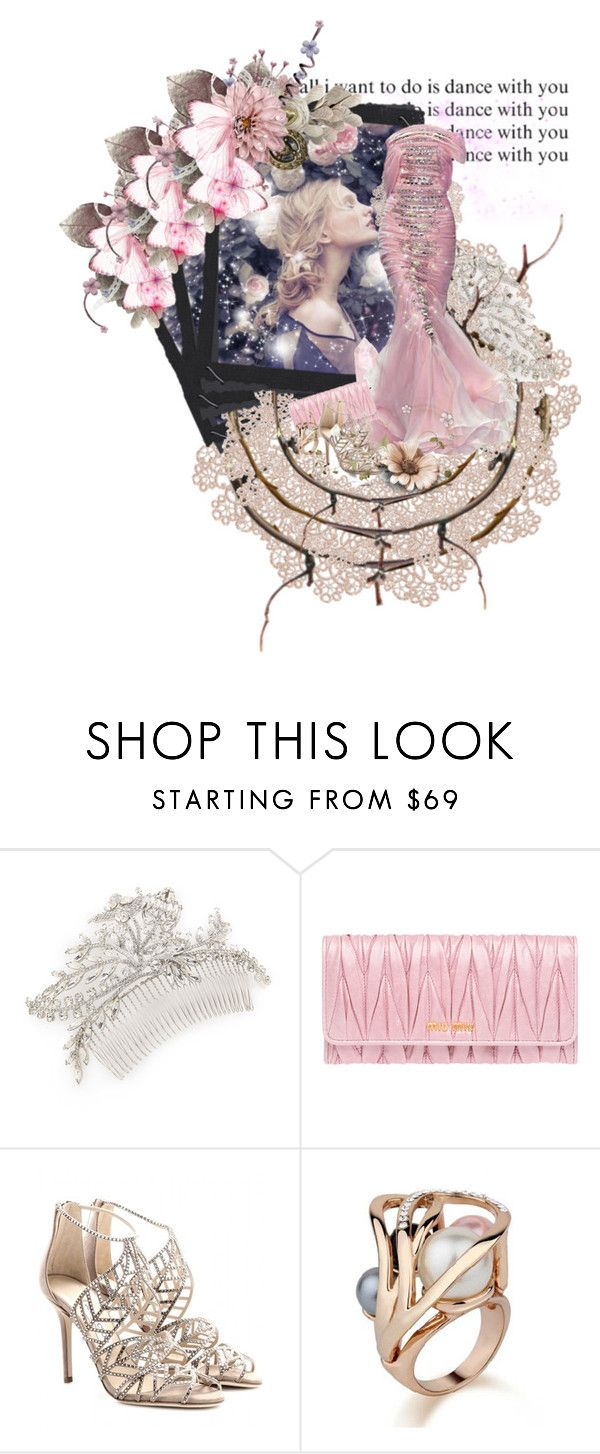 """Let's Run Away From Today"" by forget-this-life ❤ liked on Polyvore featuring Jennifer Behr, Miu Miu and Jimmy Choo"