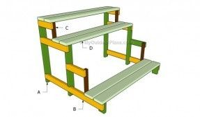 Image Result For Diy Two Tiered Plant Stand Diy Shed Wooden