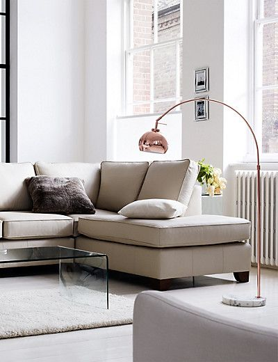 Copper Curve Floor Lamp