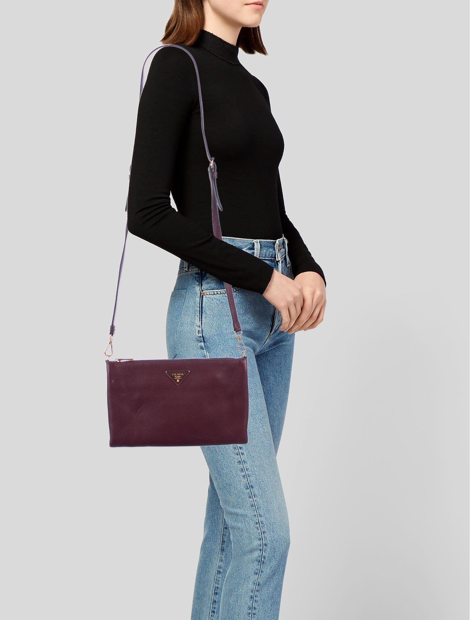 9751e83d3c Prada Vitello Daino Phenix Crossbody Bag - Handbags - PRA250923