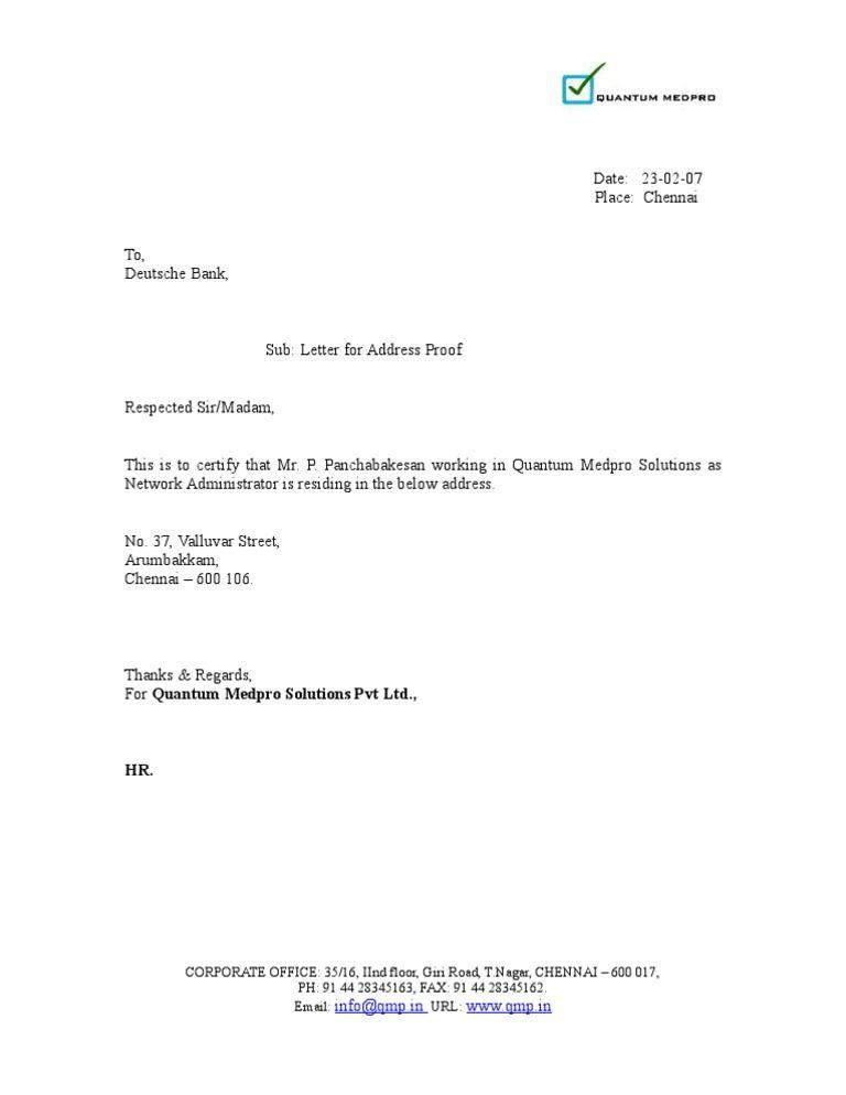 Image result for bank letter format for address proof | sonali