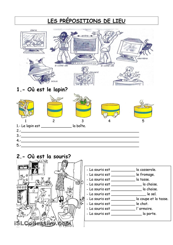 Les pr positions de lieu fiche d 39 exercices fiches for Anglais vocabulaire maison
