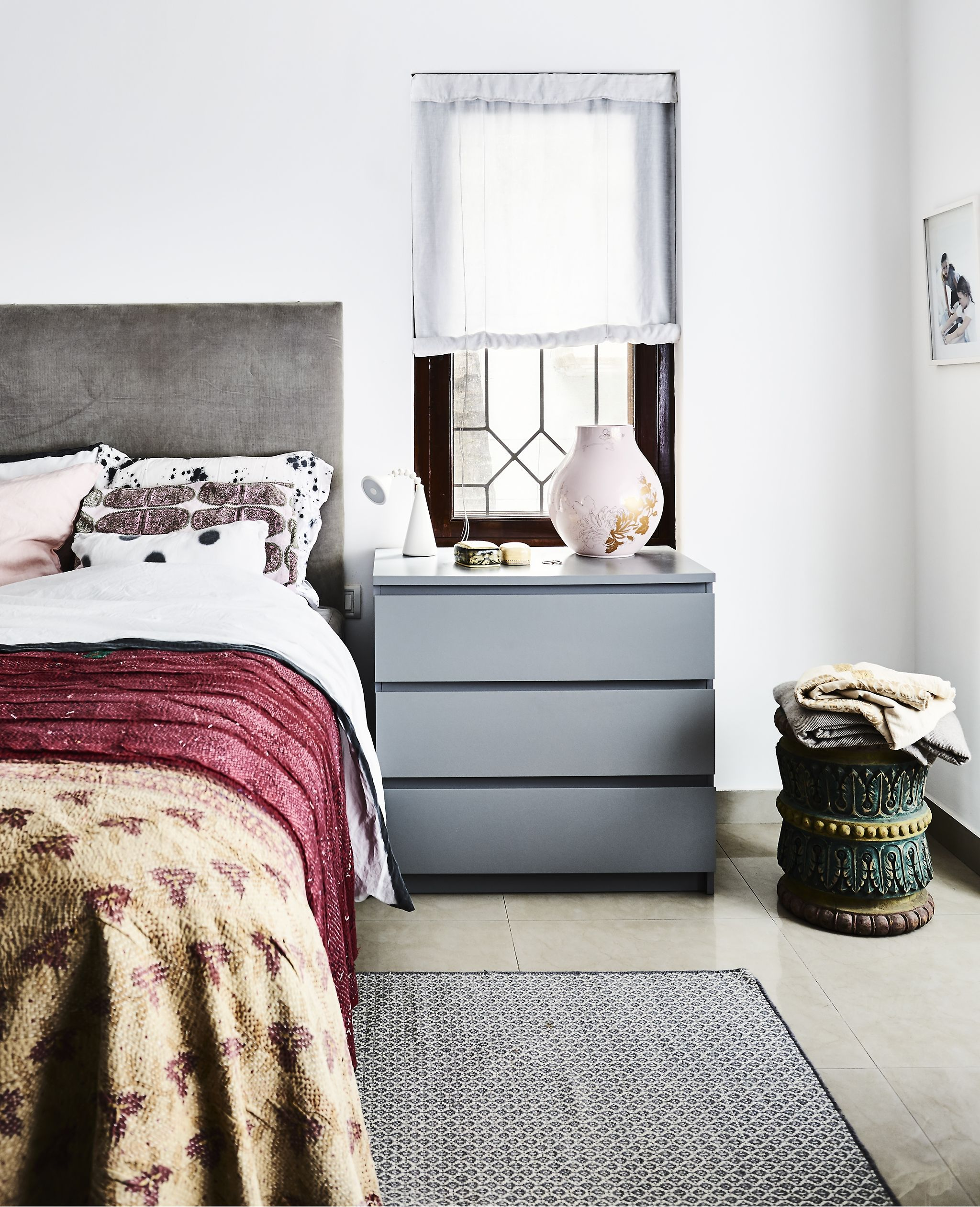 Turning a new home into a colourful retreat Bedroom