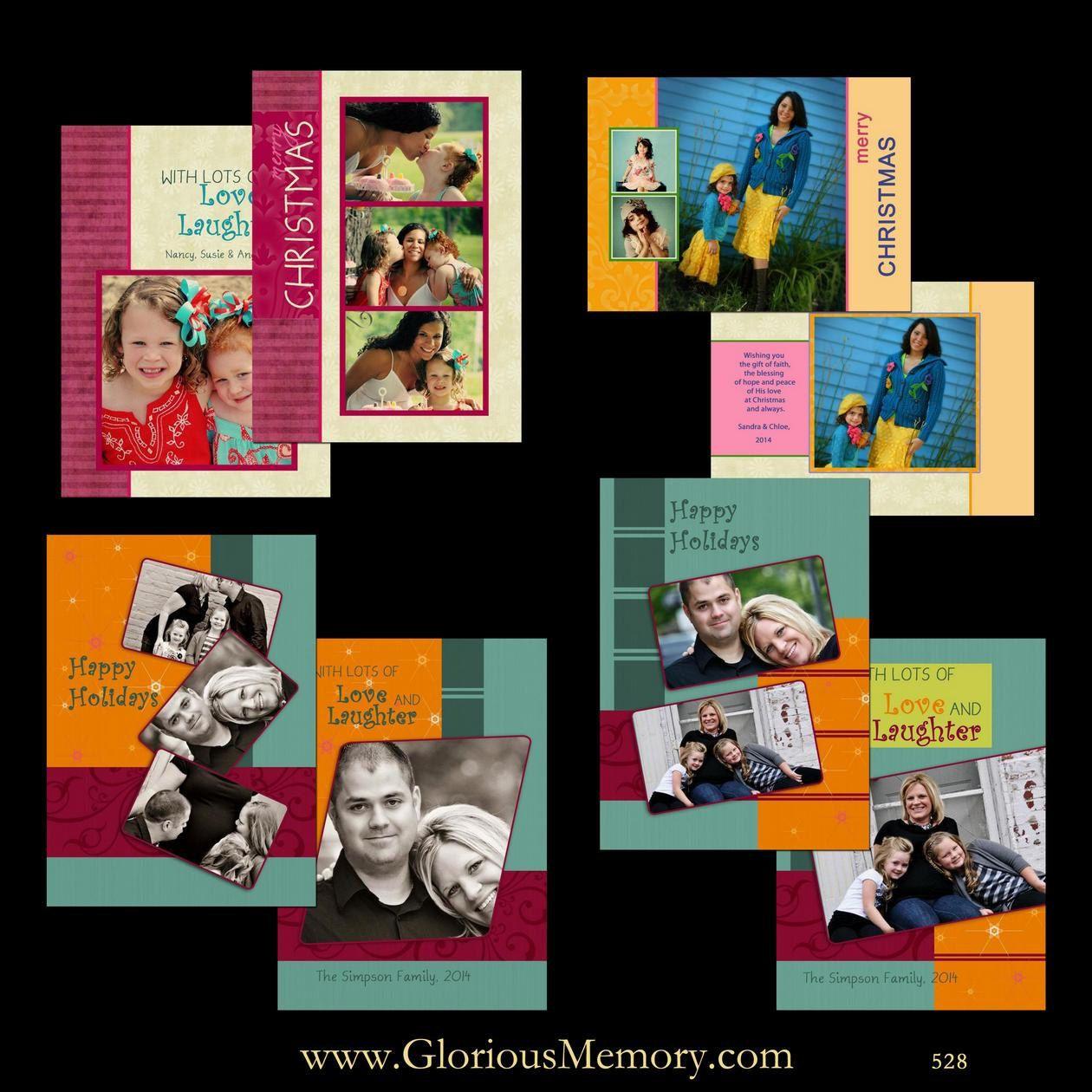 Christmas Card Templates - Holiday Photo Card Photoshop PSD ...