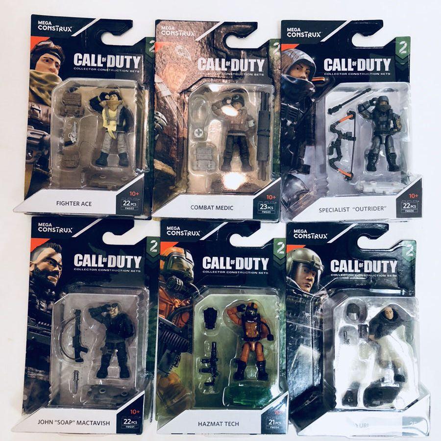 Mega Construx Call Of Duty 2 Set Of 6 Mini Figures Mega Call Of Duty Combat Medic Mini Figures