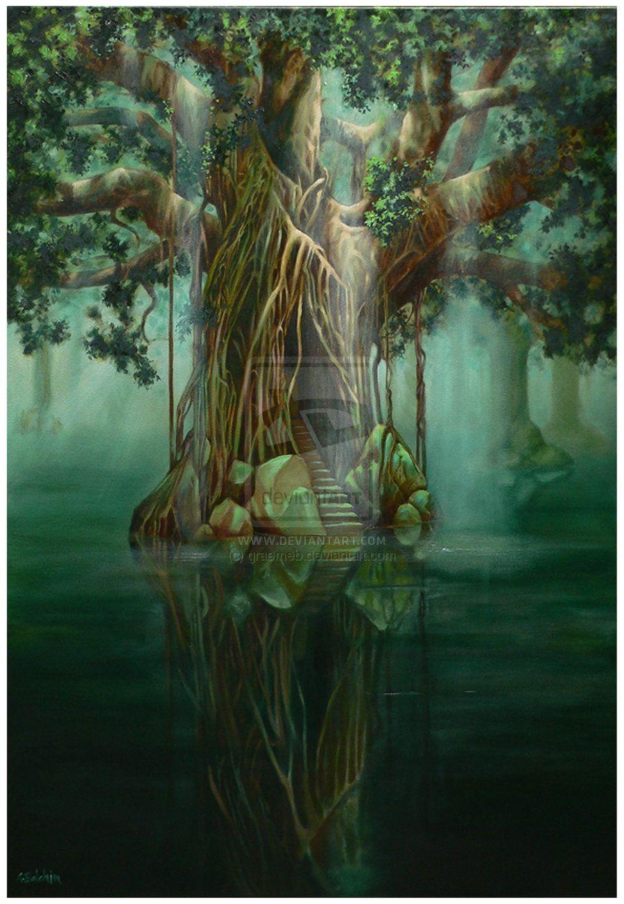 Tree of Light SOLD by graemeb on deviantART Tree art