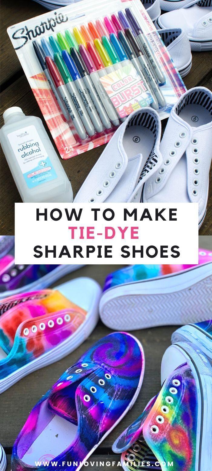 DIY Sharpie Tie Dye Shoes - Fun Loving Families
