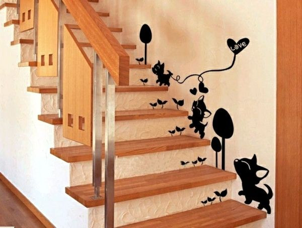 The Staircase Decorating Ideas With Paint Leftover Wallpaper And Wall Stickers Interior Design Ideas Ofdesign Wall Painting Decor Wall Deco Kid Room Decor