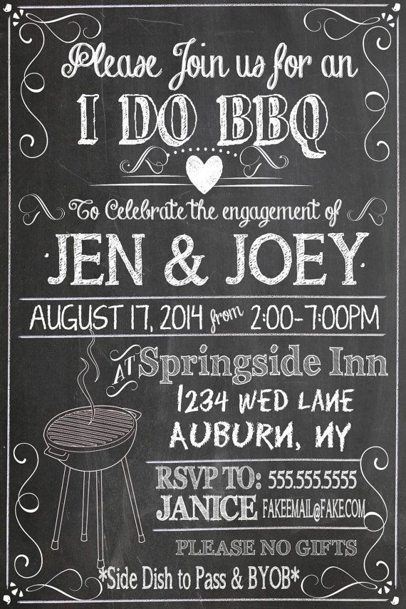 schwarz und weiß ich bbq einlädt, einzigartig b & w ich bbq einladungen mache, moderne bbq party decor, verlobungsfeier ideen ID # INVIDO01 #engagementpartyideasdecorations