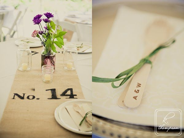 table number on runner