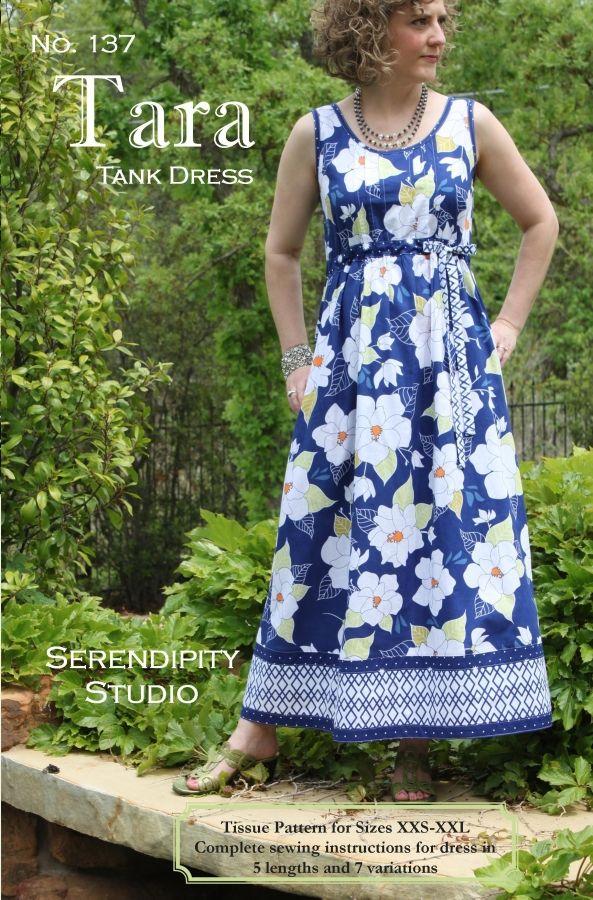 Tara Tank Dress Pattern Pinterest Tank Dress Stitch And