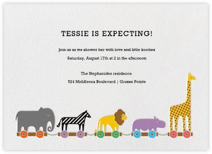 Animal Train Paperless Post Invitation Option Nursery