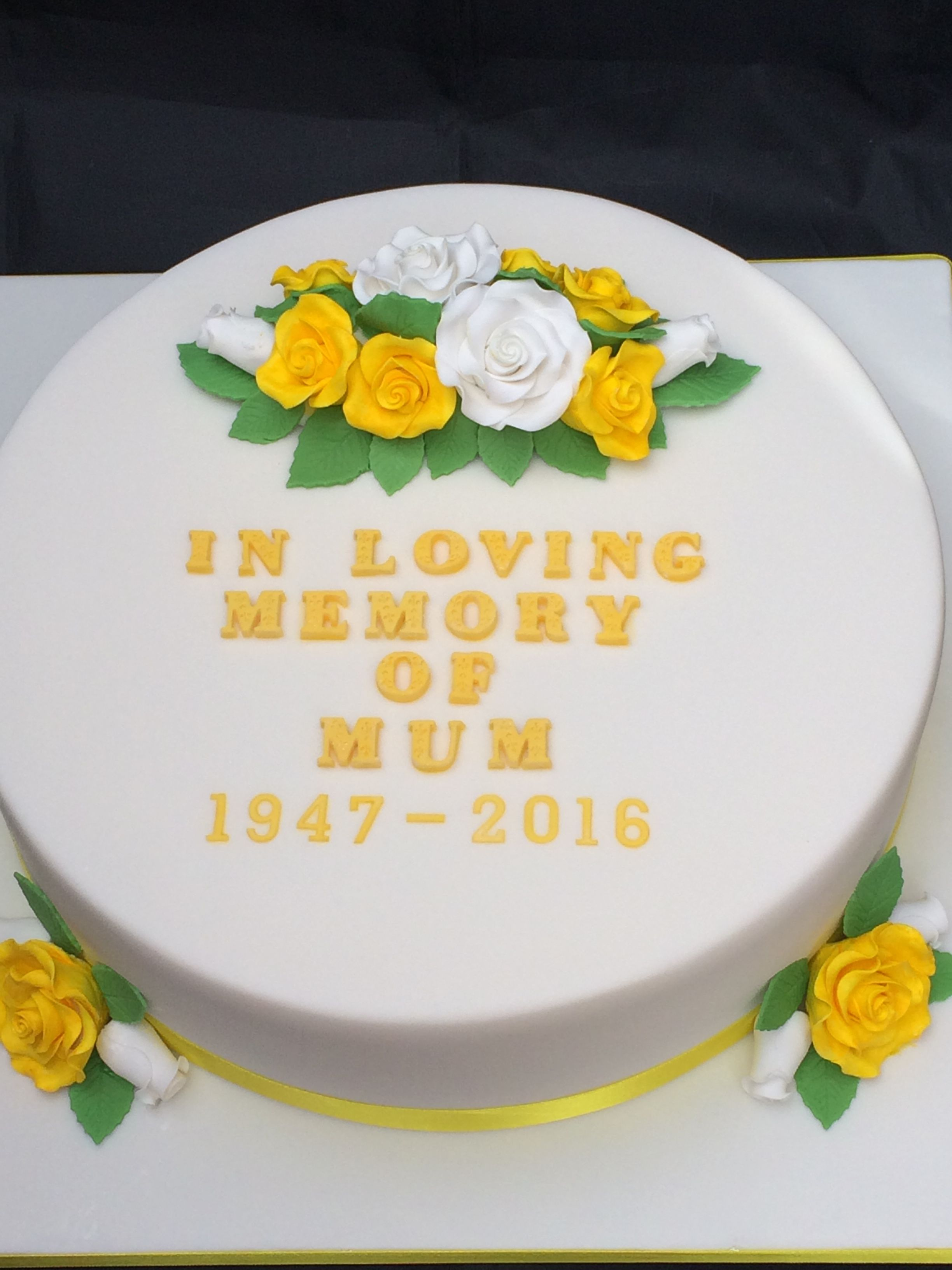 In Loving Memory Cake With Images Homemade Cakes Cake