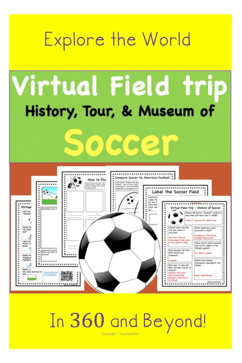 Freebie Virtual Field Trip Soccer History And All About The Game Pe Lessons In 2020 Pe Lessons Physical Education Lessons Soccer Lessons