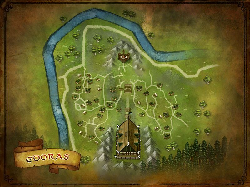 LOTRO map of Edoras | Lord of the Rings Online | Middle