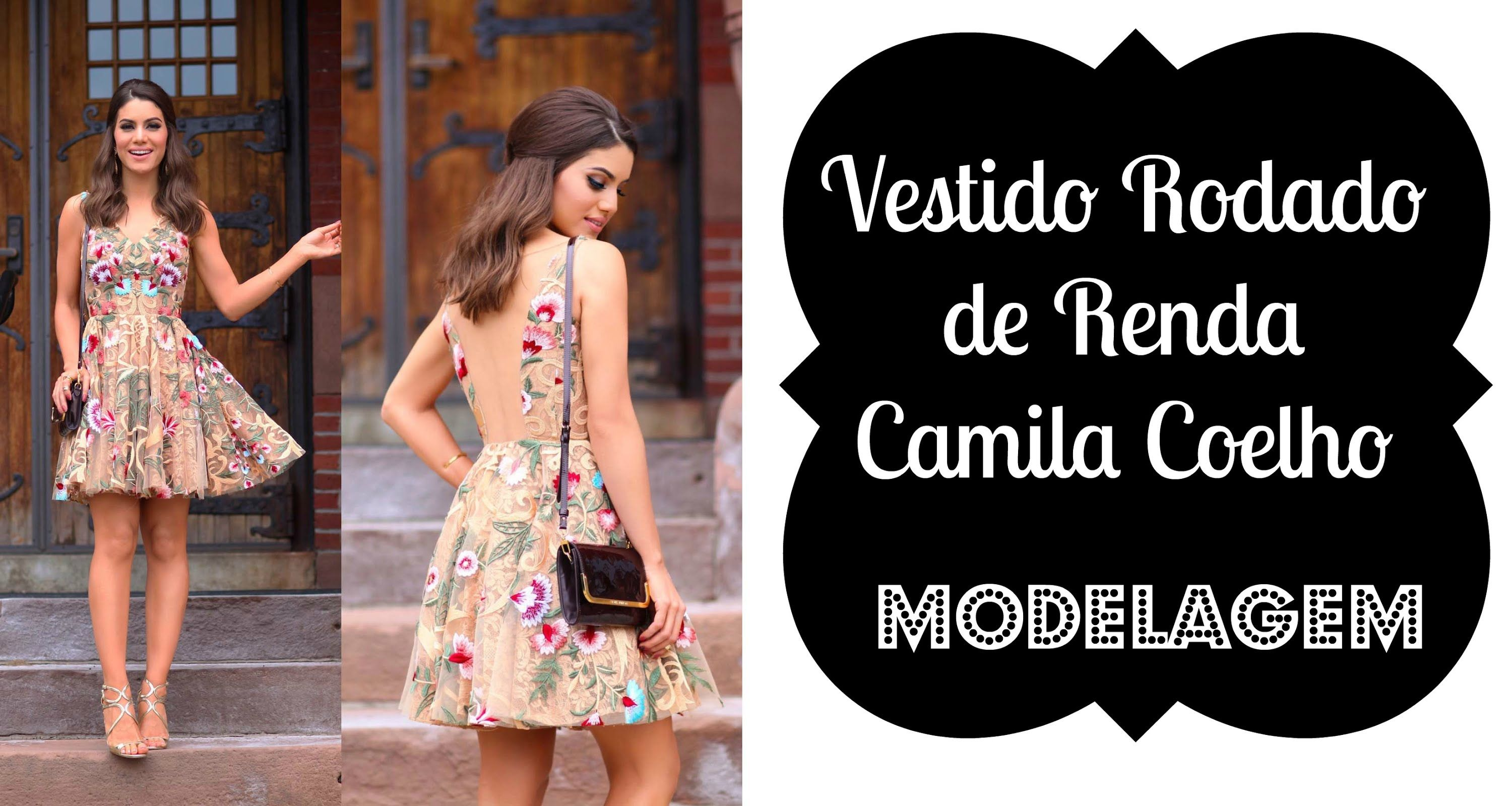 Vestido Rodado de Renda Camila Coelho MODELAGEM