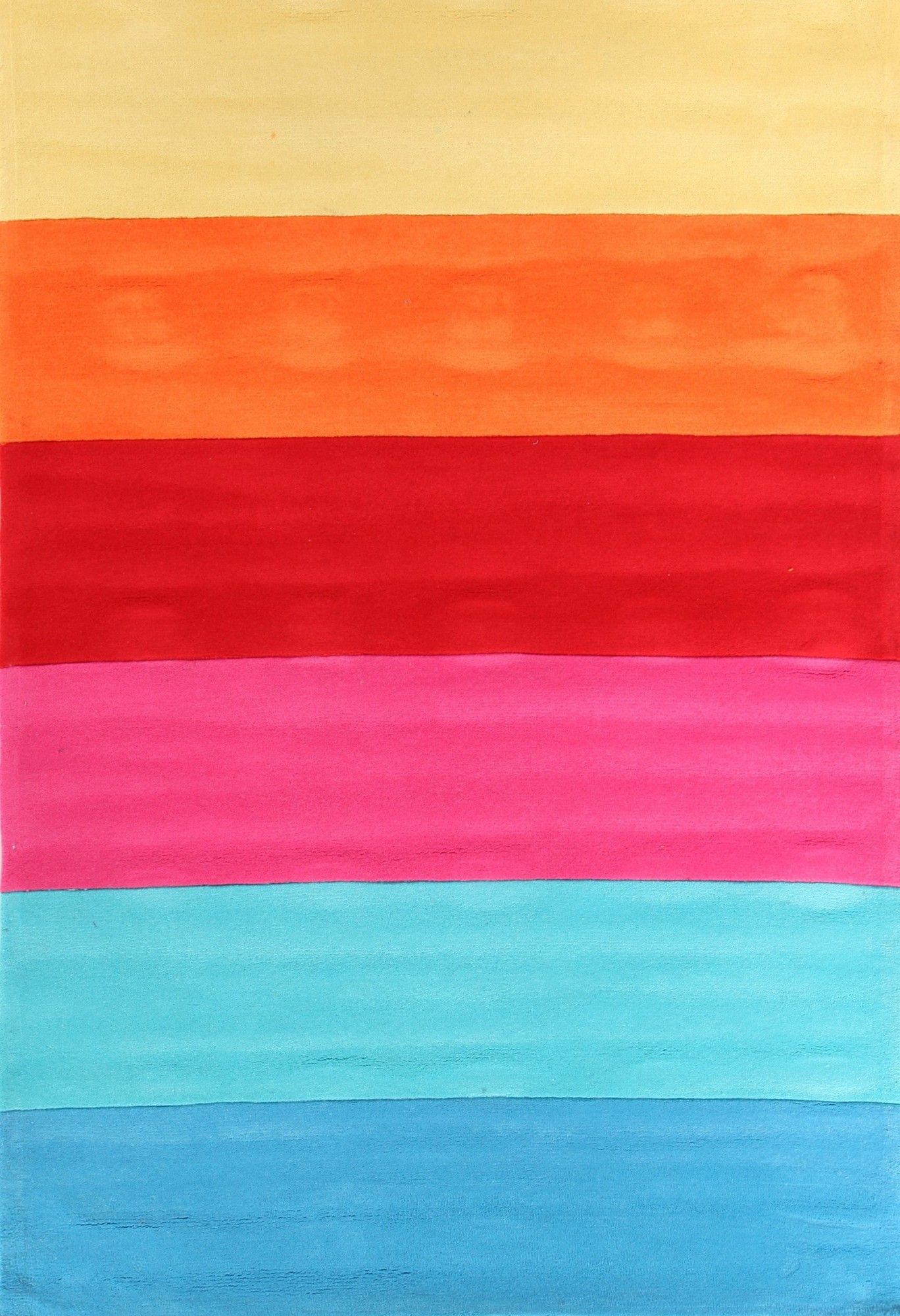 Rainbow Pink Stripe Rug By Network Rugs