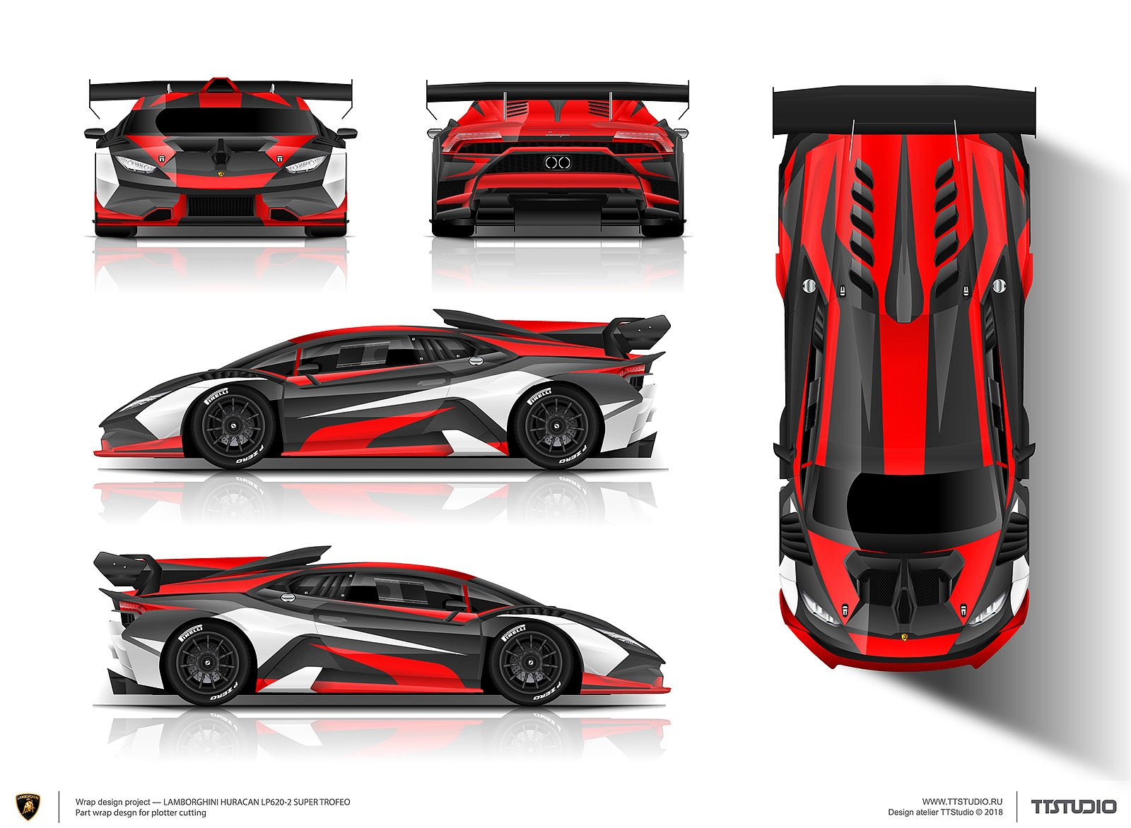The Approved Part Wrap Design Project For Lamborghini Huracan Trofeo