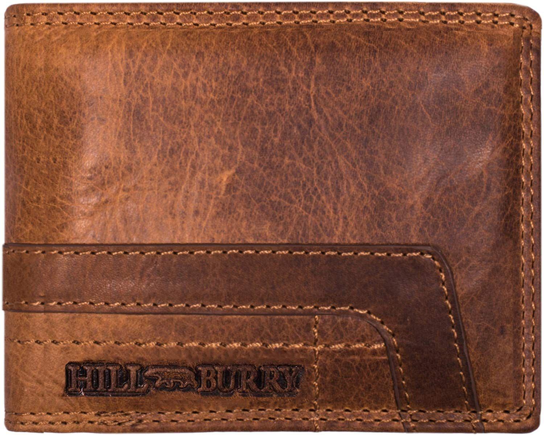 57e71e3cbc6229 Hill Burry Herren Geldbörse | Echt-Leder Portemonnaie - aus weichem  hochwertigem Rindsleder - Brieftasche