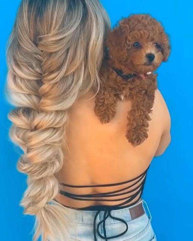 What do you see😍😍 Hair extension/Braided hair/cute