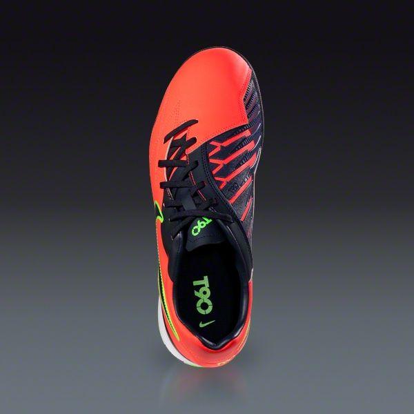 detailed look 9a818 c2b58 Nike T90 Shoot IV TF - Bright Crimson Dark Obsidian Electric Green Turf  Soccer Shoes    SOCCER.COM