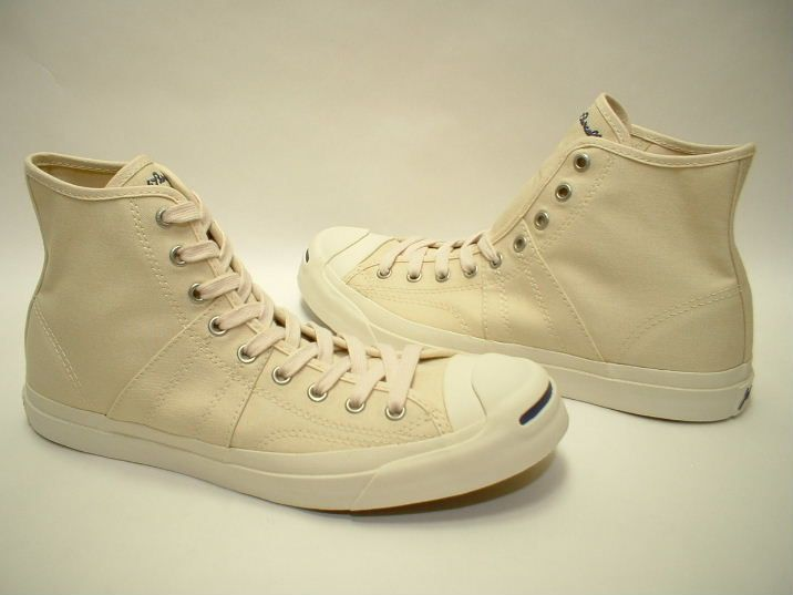 06f2da53529 Converse - Jack Purcell Johnny Mid in Cream   Natural Navy Accents ...