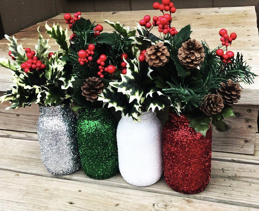Wedding decorations for home december 2018 Beautiful sparkle mason jar glitter mason jar wedding or home
