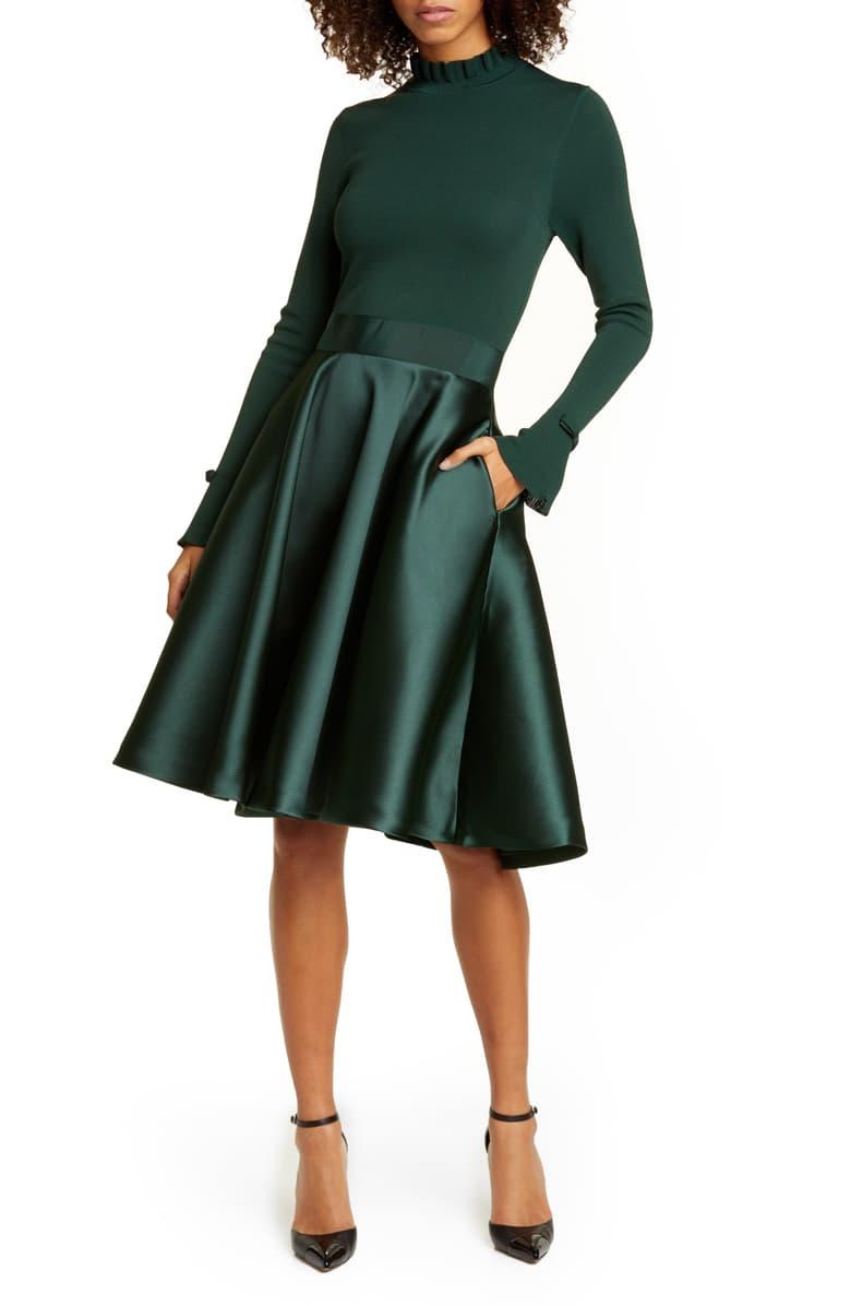 Ted Baker London Zadi Long Sleeve Fit Flare Dress Nordstrom In 2020 Fit Flare Dress Flare Dress London Dresses