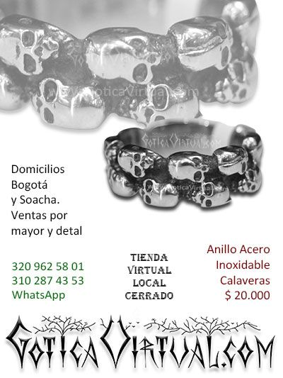 anillos  acero inoxidable economico venta online envios medellin rockeros metaleros cali manizales pereira pasto