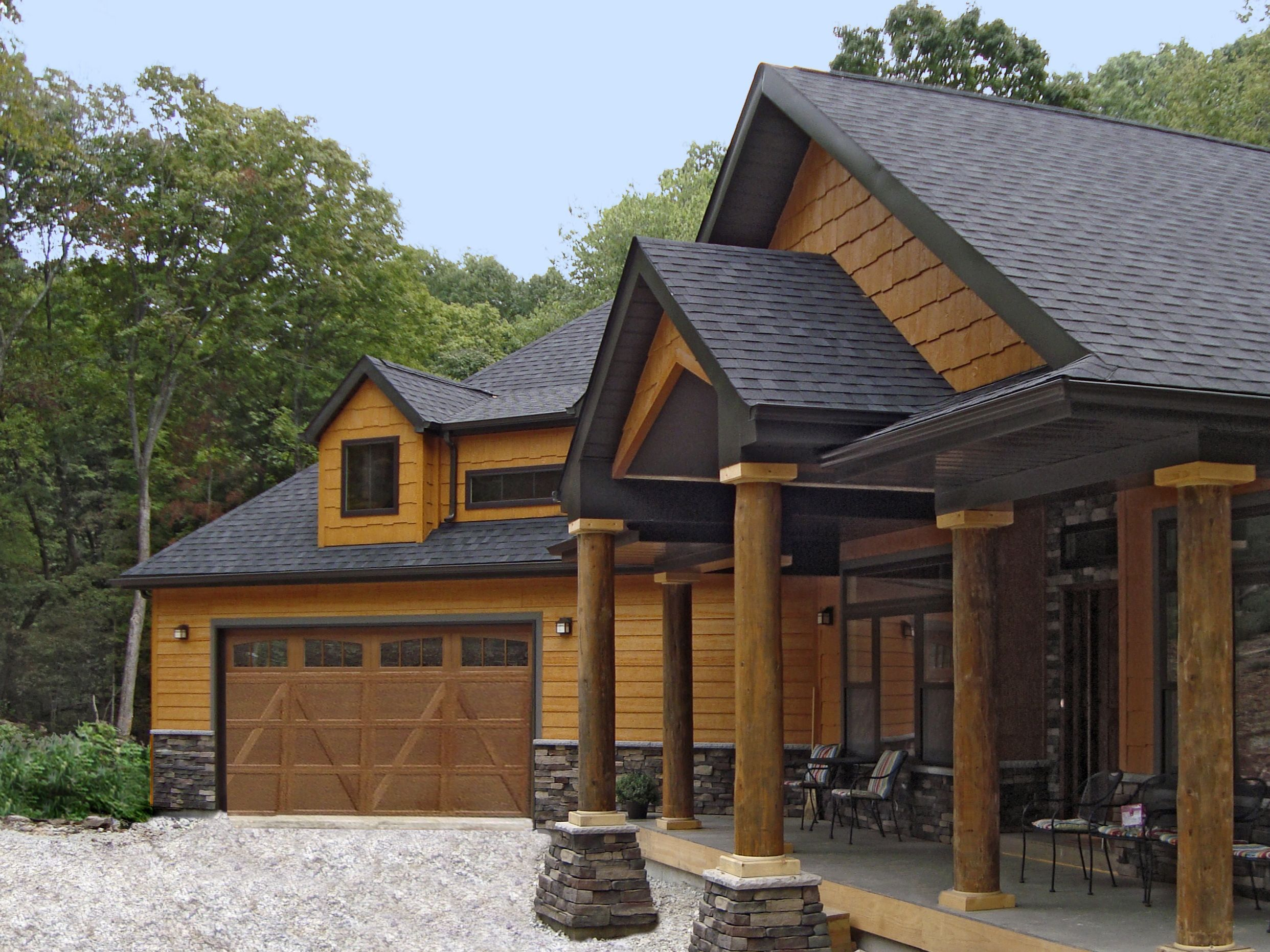 This House Features Siding And Shakes In Diamond Kote