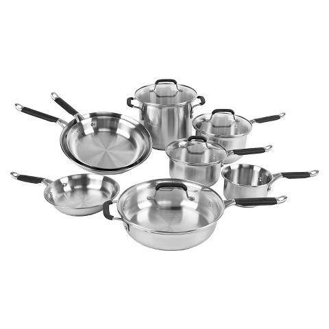 calphalon kitchen essentials 12 piece stainless steel cookware set
