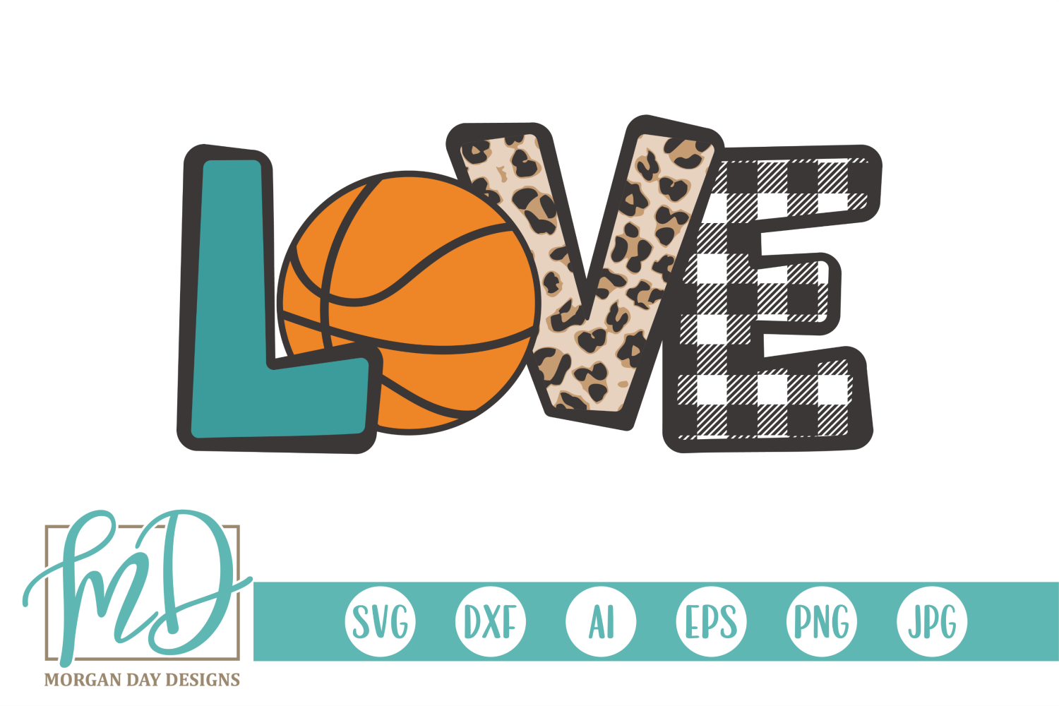 Download Basketball Love SVG By Morgan Day Designs TheHungryJPEG ...