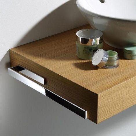 Handtuchhalter für Badmöbel und Waschtischkonsolen in 2 - handtuchhalter für küche