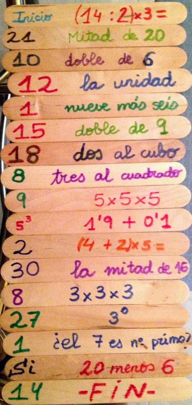 BLOGICMATES: MATERIAL PARA CALCULO MENTAL | Juegos matematicos ...