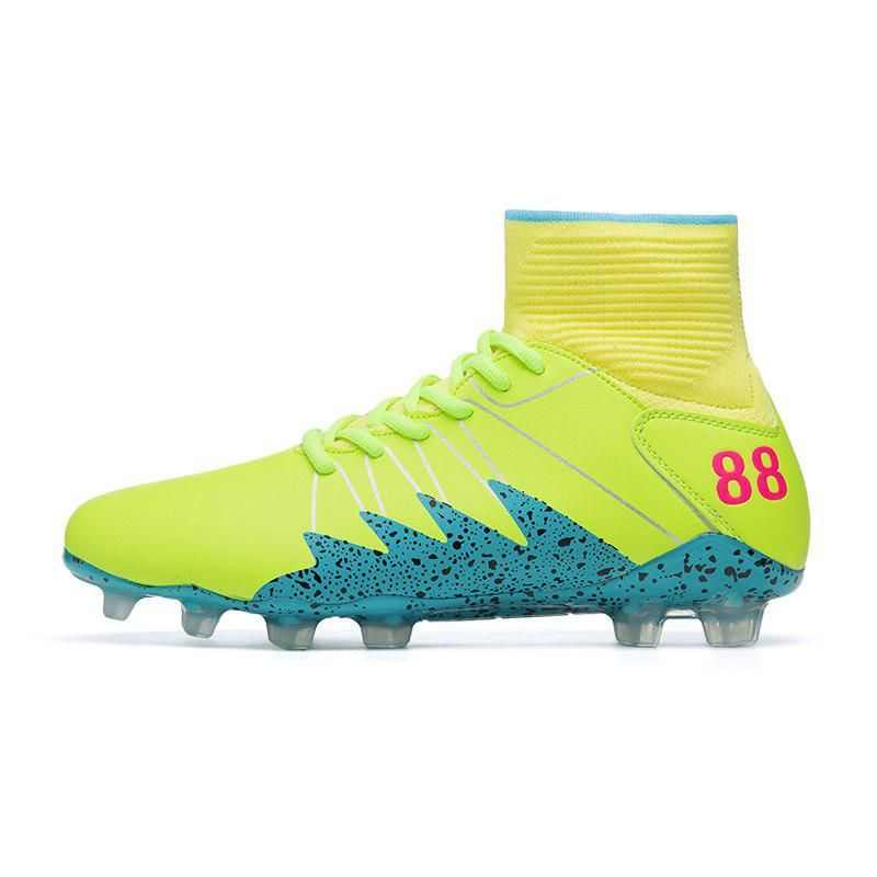 a7ddb15e18ae High Ankle Men Football Shoes TF/FG/AG Long Spikes Training Football Boots  Hard