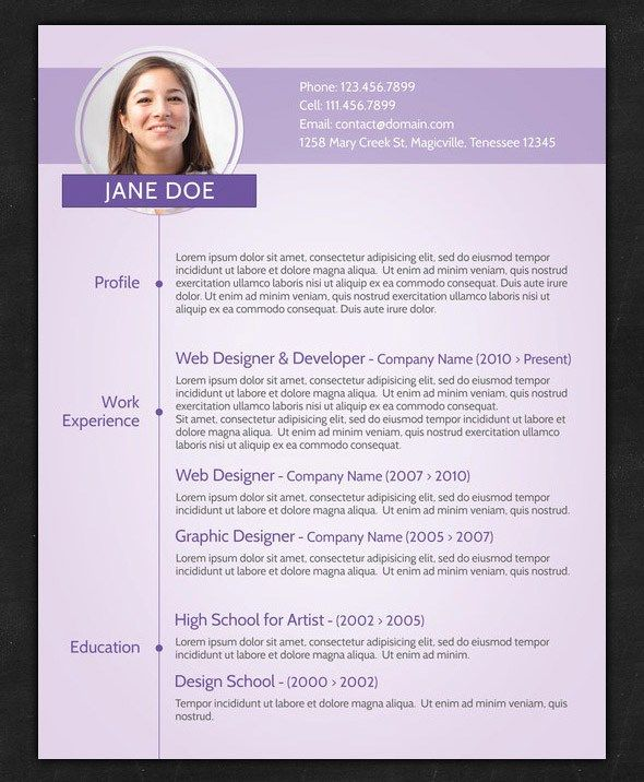 Simple Cv Example Doc Free Blank Cv Template Example 2 Docpdf 2