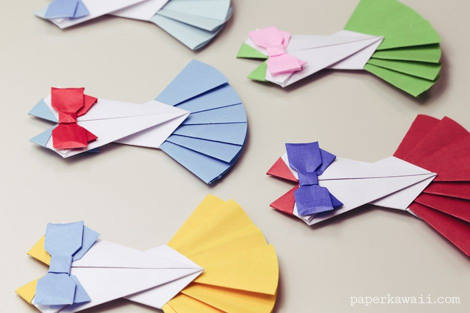 Origami Bow Instructions Layered Pinterest Origami Paper