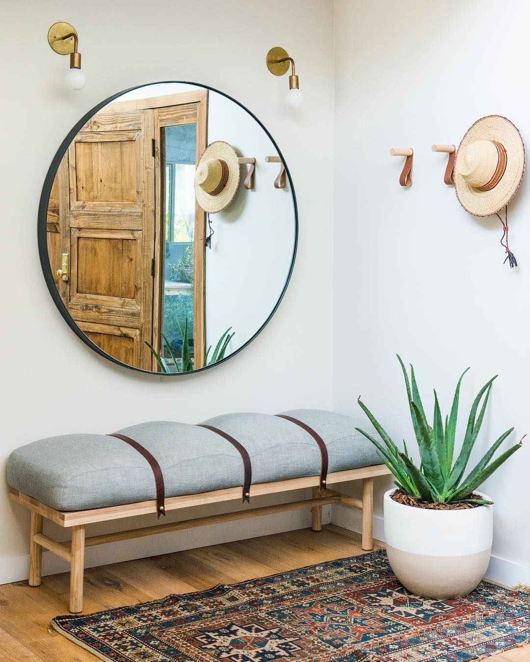 croft house round chambers mirror entrance decor modern on ideas for decorating entryway contemporary wall mirrors id=77186