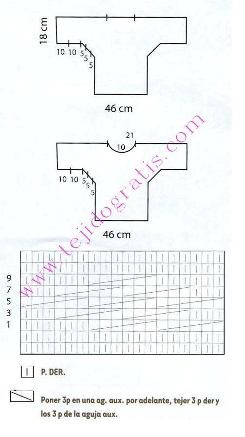 Pulóver con trenzas | tejidos | Pinterest | Trenza, Tejido y Dos agujas