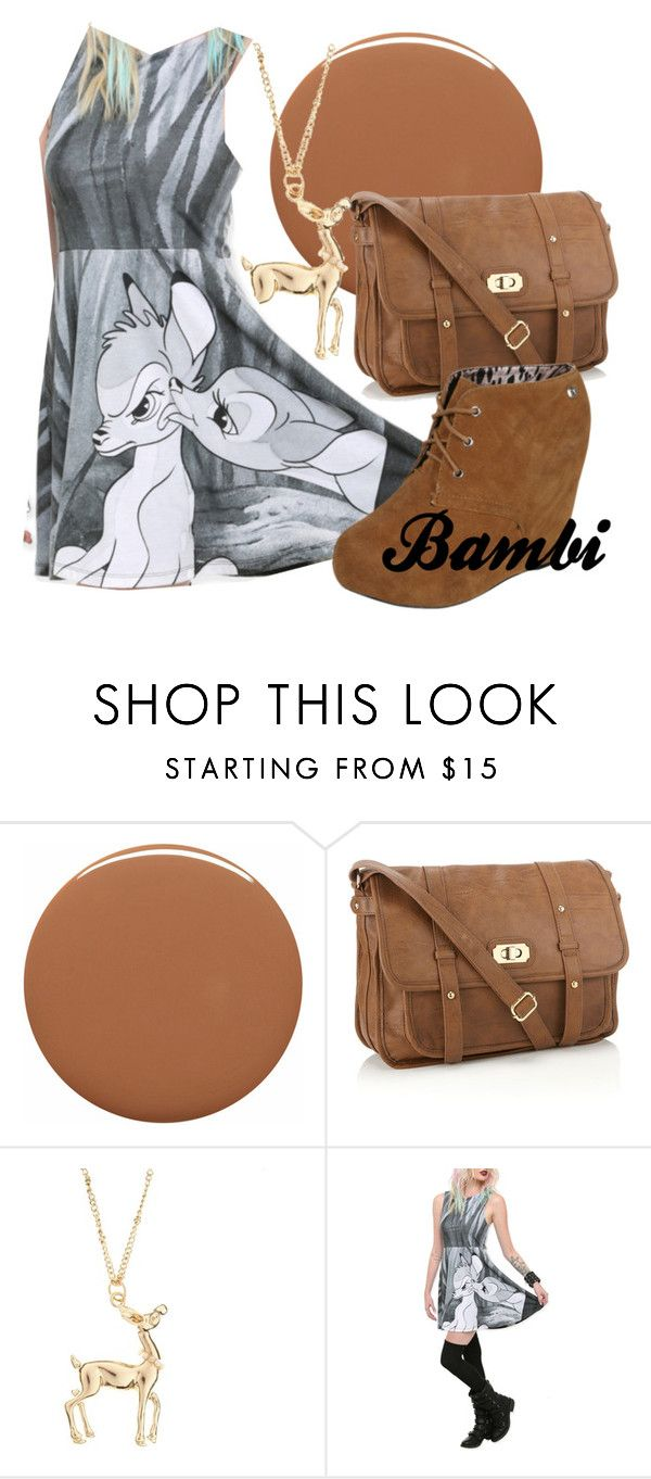 """Bambi"" by amarie104 ❤ liked on Polyvore featuring RGB, Accessorize, Floozie by Frost French, Disney and Blink"