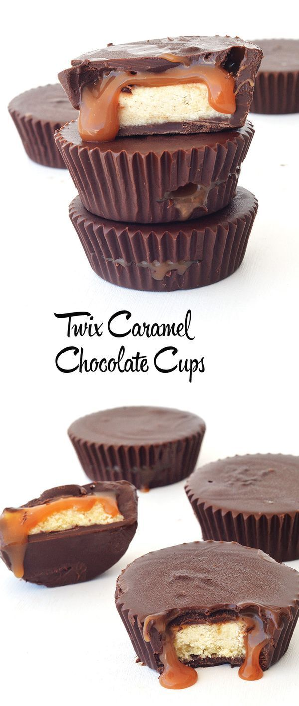 With homemade caramel and homemade buttery shortbread - these Twix Caramel Chocolate Cups tastes even BETTER than the real thing!