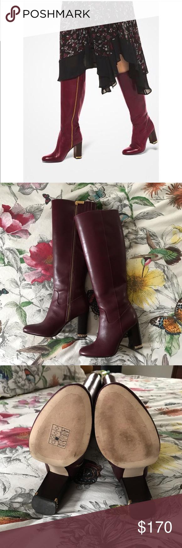 MICHAEL KORS Walker boots in Oxblood