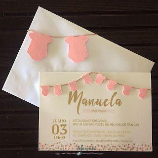 Convite Chá de Fraldas Convite personalizado usando Silhouette Cameo  Baby shower invitation using Silhouette Cameo