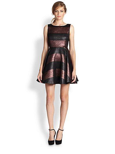 0ceec988e Alice + Olivia Floss Cut Out Back Striped Dress - Fall 2014 ...