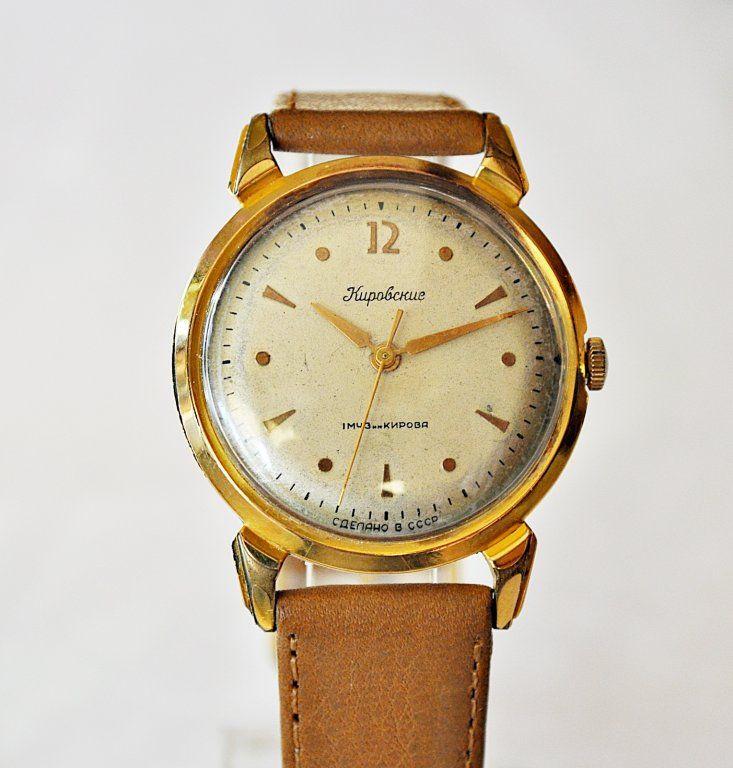 Zlocony Kirowskije Krab 16 Kamieni Rzadki Model 6264853501 Oficjalne Archiwum Allegro Model Leather Watch Leather