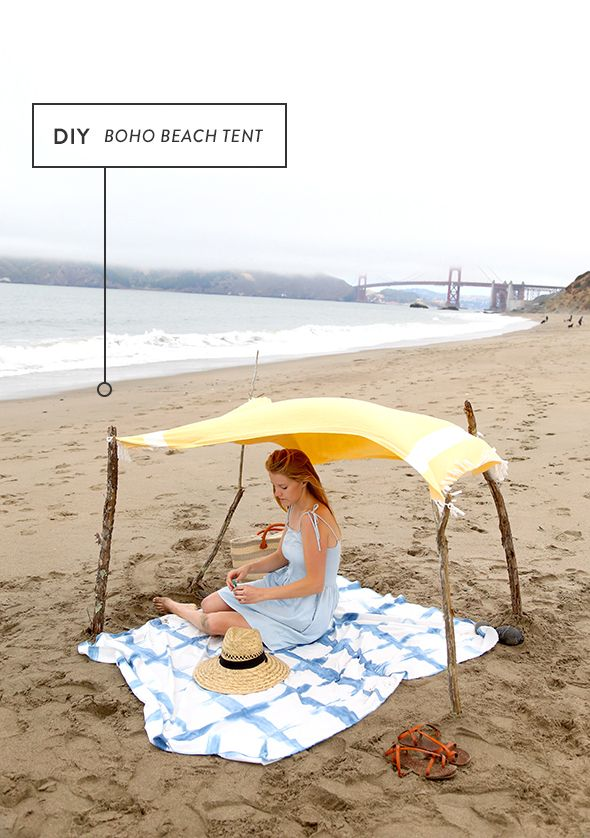 How to Make a Boho Beach Tent  sc 1 st  Pinterest : beach tent diy - memphite.com