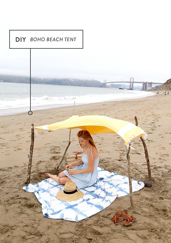 How To Make A Boho Beach Tent